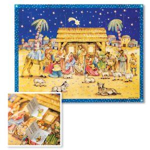 Advent Calendar Bethlehem Stable