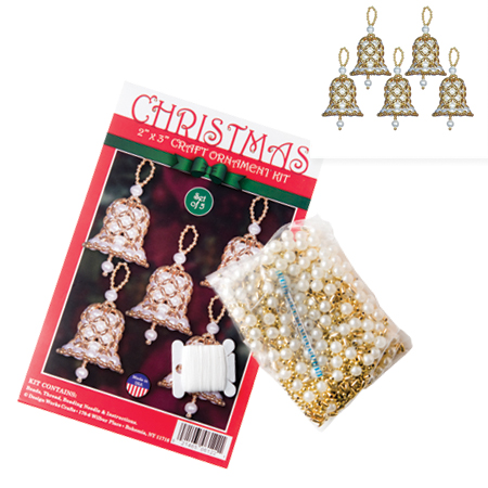 Beaded Bells Christmas Craft Ornament Kit