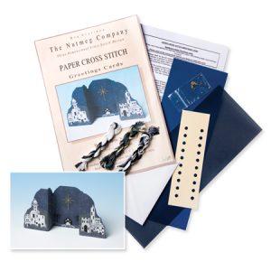 Bethlehem Night Paper Cross Stitch Greeting Card Kit