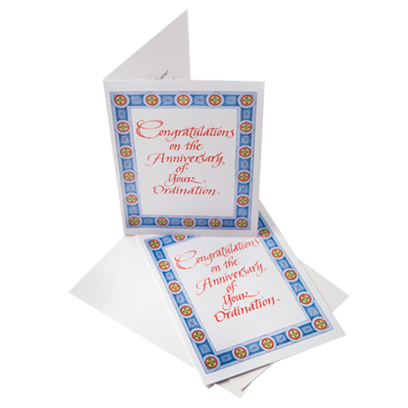 Congratulations on the Anniversary of your Ordination card