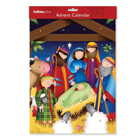 Cartoon Nativity Advent Calendar
