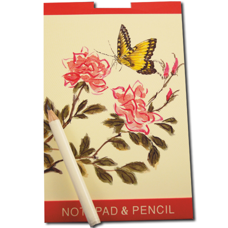 Chinese Notepad and Pencil