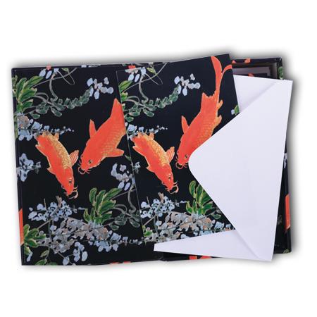 Bishop Han: Notecard Box Fish design