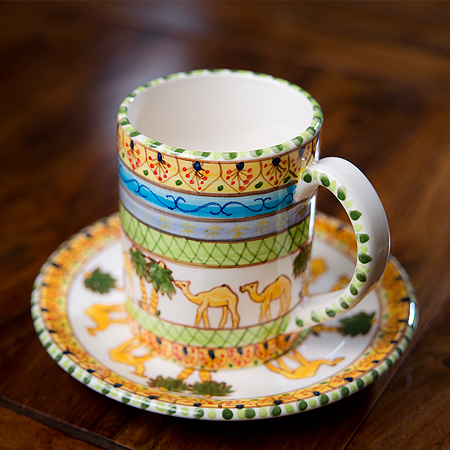 Hand-painted Cup & Saucer Set 2