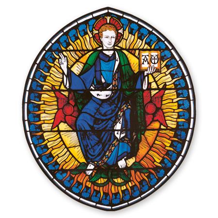 Roundel of Christ Window Transfer