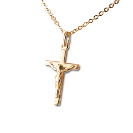 Gold plated Crucifix necklace