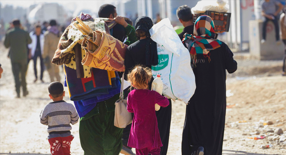 Refugee and Internally Displaced Persons (IDPs) camp in Kazer, Erbil, Iraq (©Aid to the Church in Need/Jaco Klamer)