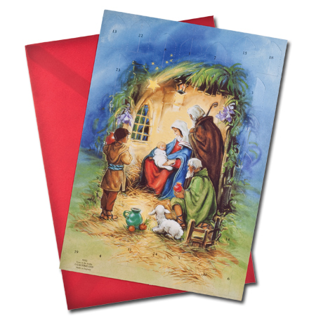 Jesus in the Stable Advent Calendar