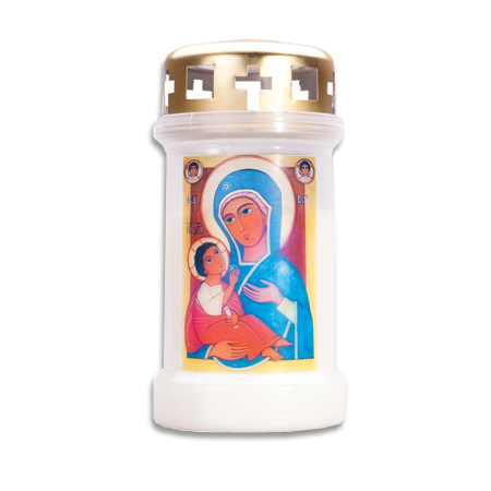 Marian Candle Egyptian Icon