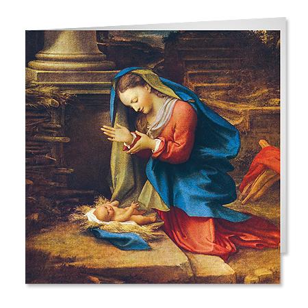 Mary Adoring Jesus