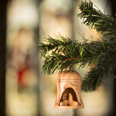 Olive Wood Nativity Bell