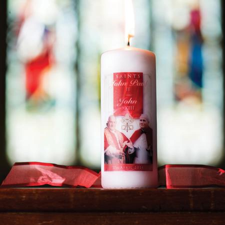 Saint John XXIII & Saint John Paul II Candle