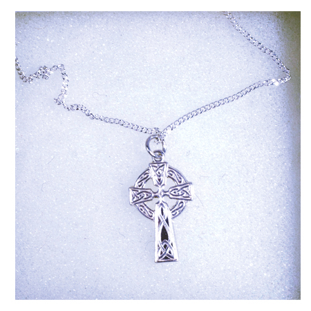 Silver Celtic Cross and Chain