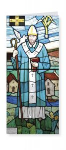 St David Patron Saint of Wales card