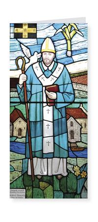 St David Patron Saint of Wales card