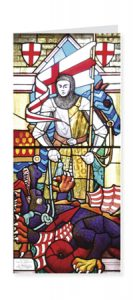 St George Patron Saint of England card