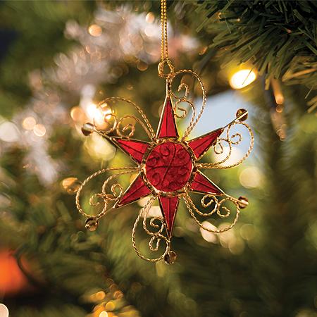 Swirl Star - Capiz Decoration