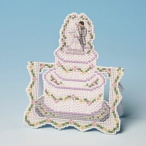 Wedding Cake Cross Stitch Greeting Card