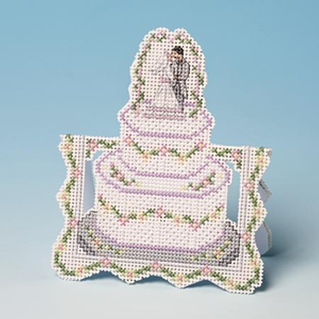 Wedding Cake Cross Stitch Greeting Card