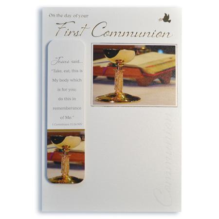 Sacraments card: First Holy Communion