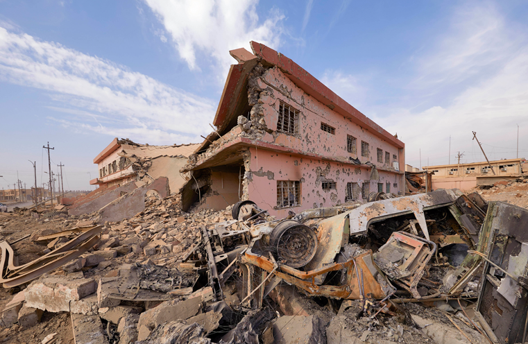 A building destroyed in Qaraqosh, which was the last Christian majority town in Iraq (© ACN/Jaco Klamer)