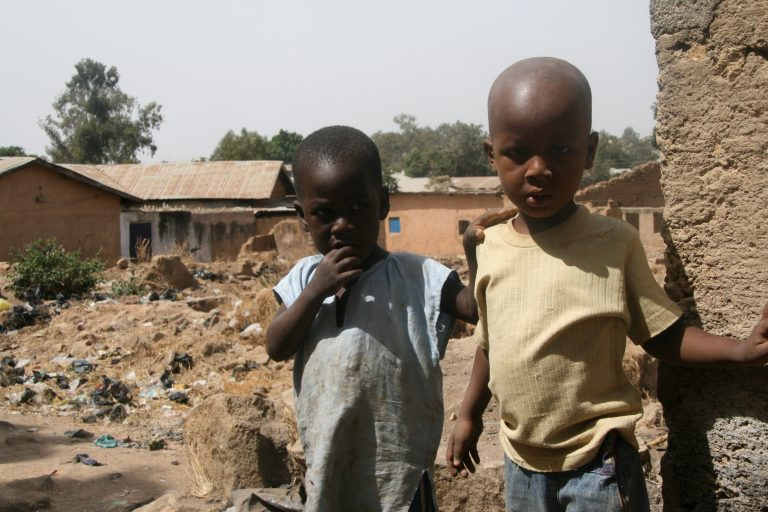 Children in a village in Bauchi Diocese devastated by Boko Haram
