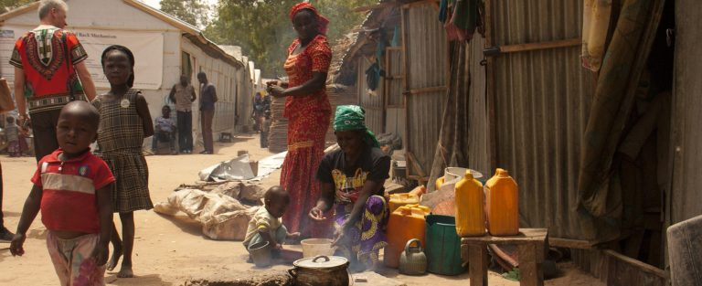 Christians have found shelter from Boko Haram in this displacement camp in Maiduguri, northern Nigeria