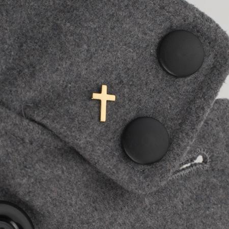 Brass Cross Lapel Pin