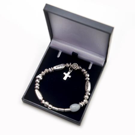 Love, Faith and Hope Cross Drop Bracelet