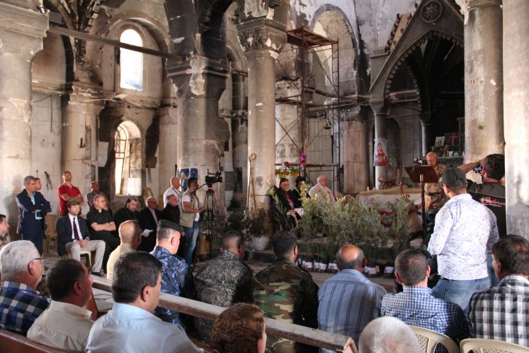 In May 2017, the Olive Tree ceremony took place in three towns of the Nineveh Plains: Bartella, Qaraqosh and Karamlesh.