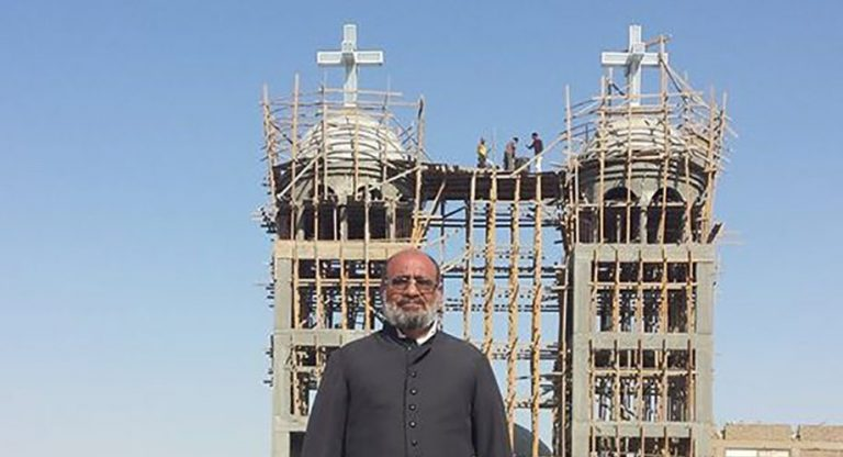Construction of St George parish church, Kom Boha, Dairout District
