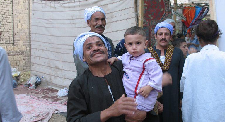 Pilgrims to Deir Dronka monastery, six miles from Assiut