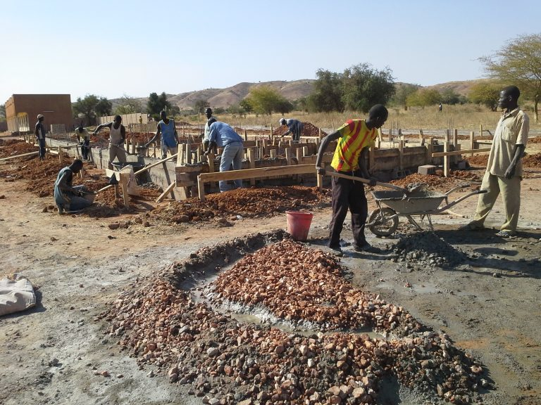 Construction of a multipurpose hall in Kaya diocese, Burkina Faso (©Aid to the Church in Need)