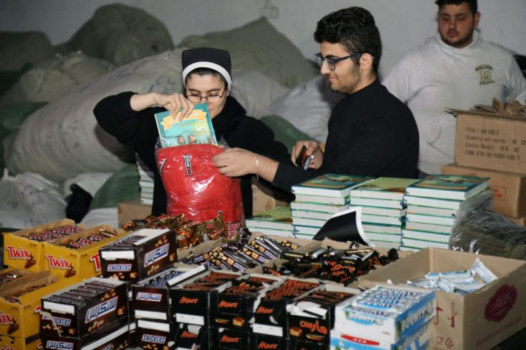 Christmas gifts being prepared for children from Iraq's Nineveh Plains