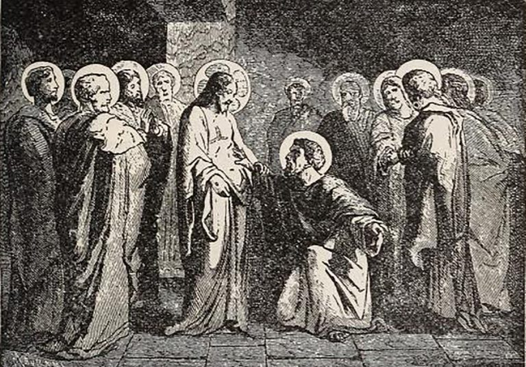 """After his initial doubt St Thomas accepted Jesus Christ's resurrection, confessing: """"My Lord and My God""""."""