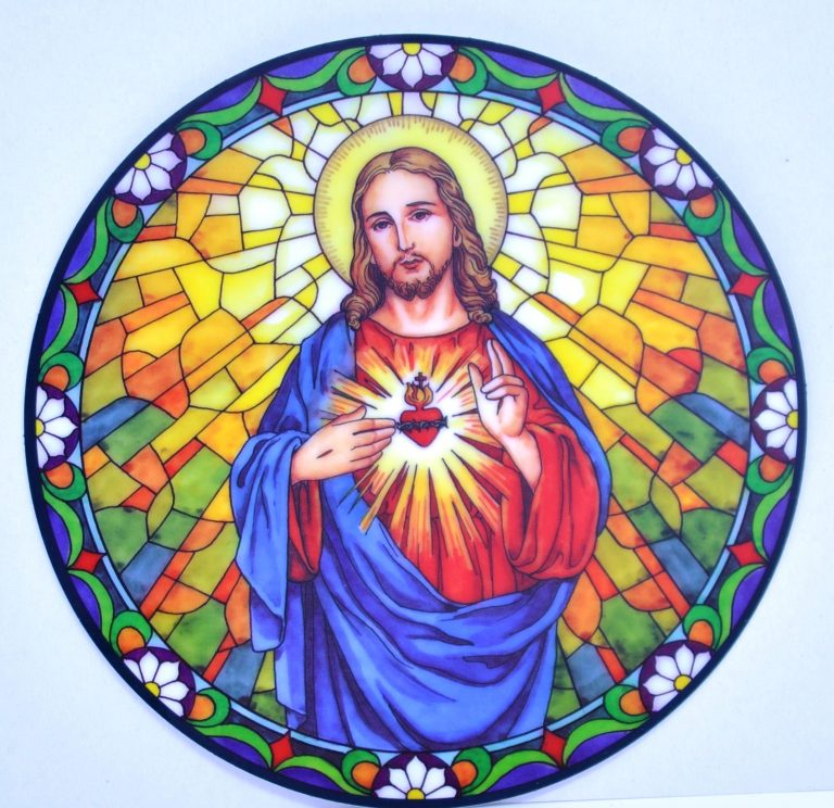 Sacred Heart Suncatcher Was £4.99 NOW £2.50
