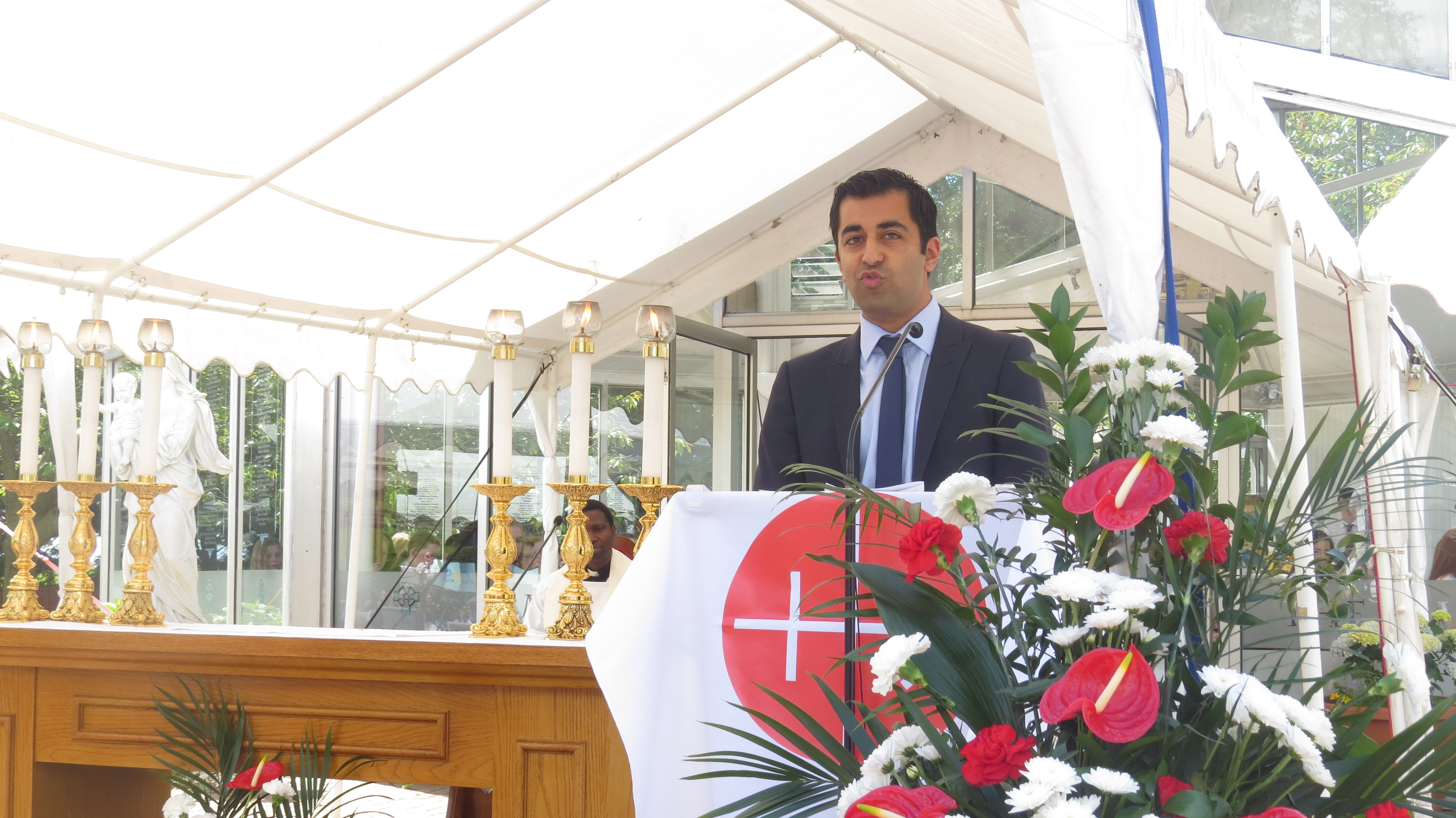 Humza Yousaf, MSP speaking at ACN youth rally in Scotland (© Aid to the Church in Need)
