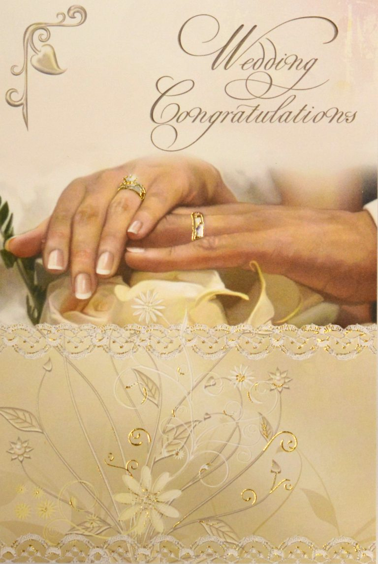 aid to the church in need  wedding congratulations card
