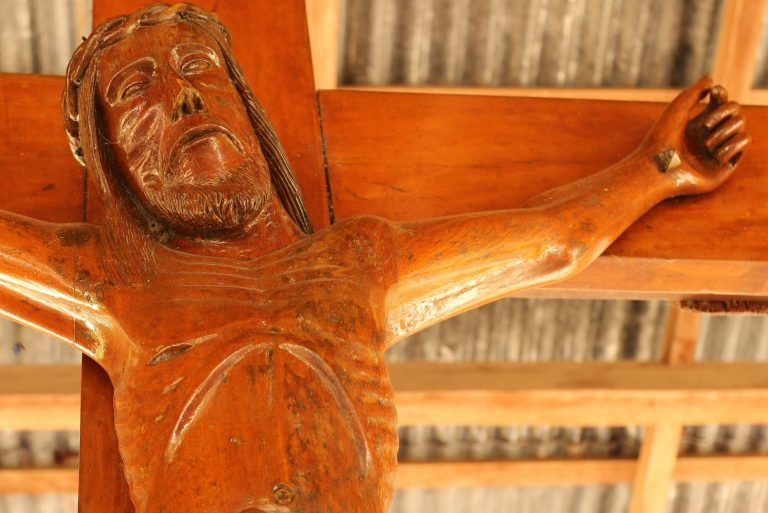 A cross of Jesus Christ in Weetebula diocese, Sumba Island, Indonesia