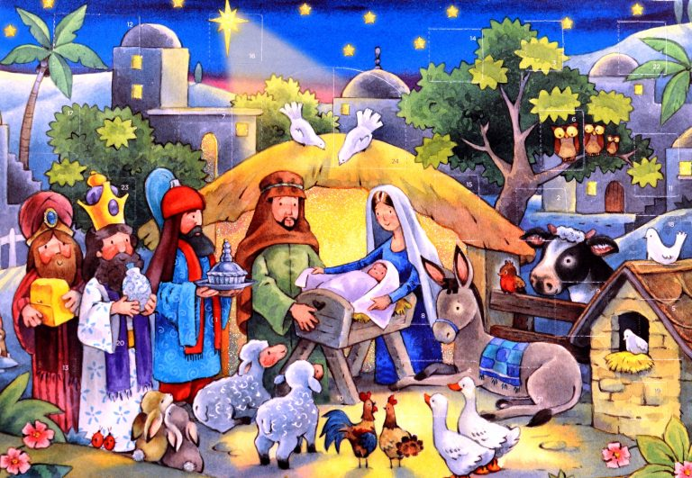 Aid To The Church In Need Nativity Advent Calendar With Glitter