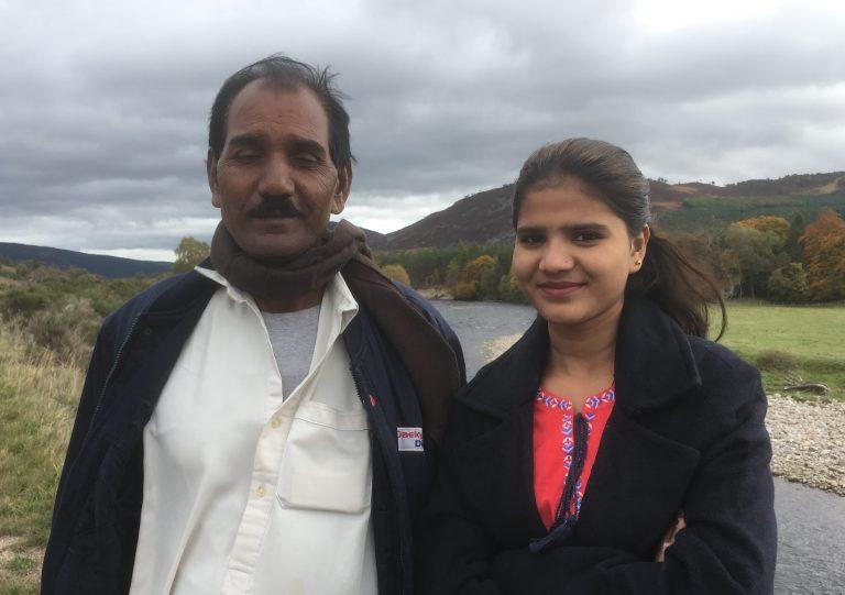 Asia Bibi's husband, Ashiq Masih and daughter, Eisham Ashiq (© ACN)