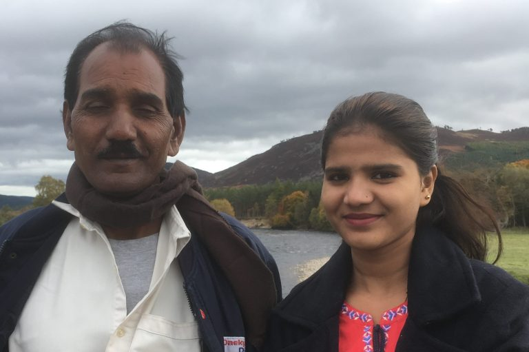 Asia Bibi's husband, Ashiq Masih and daughter, Eisham Ashiq (© ACN)
