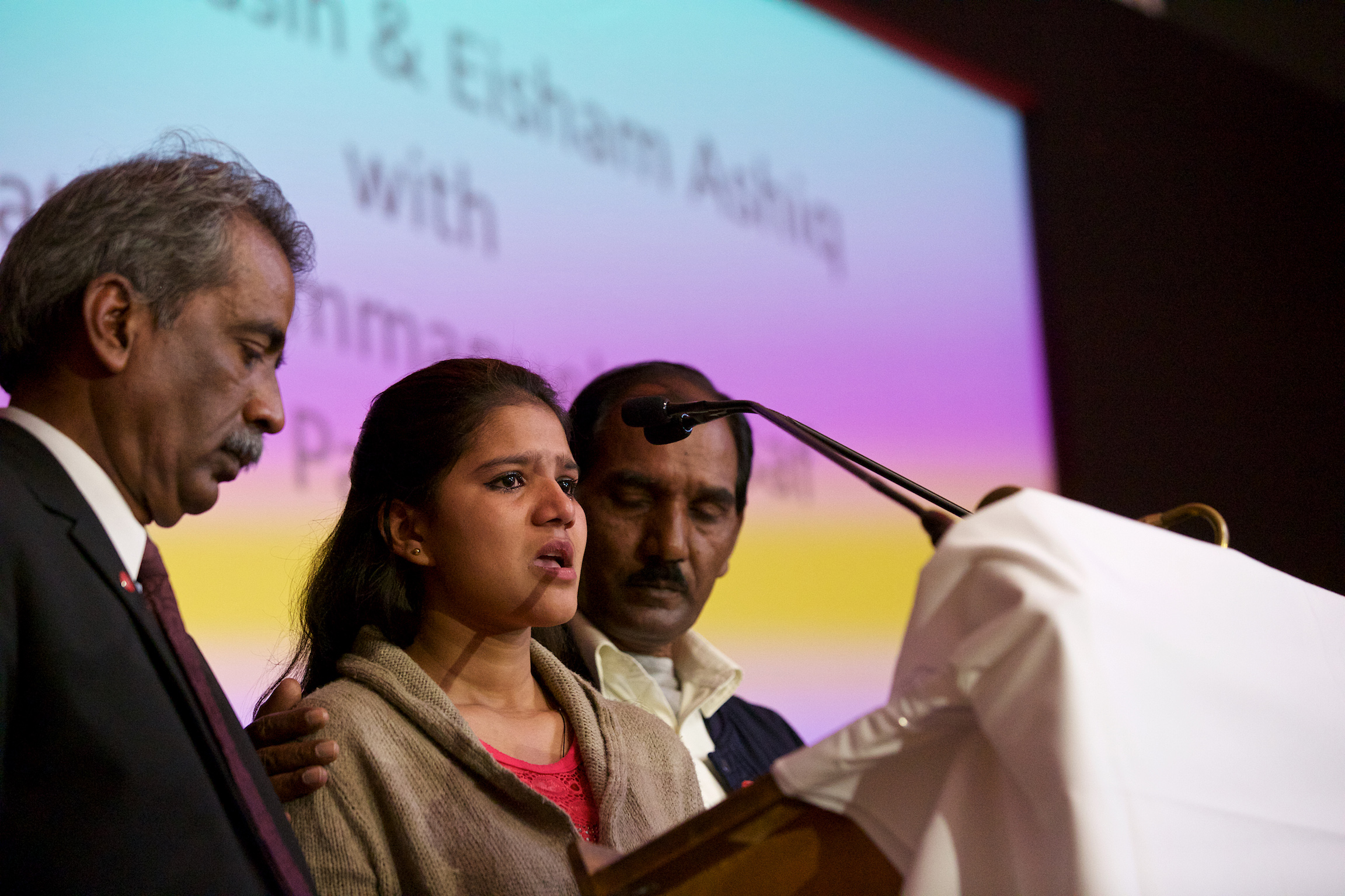Asia Bibi's daughter Eisham Ashiq spoke at ACN's Annual event in Westminster Cathedral Hall (© Weenson Oopicture-u.net)