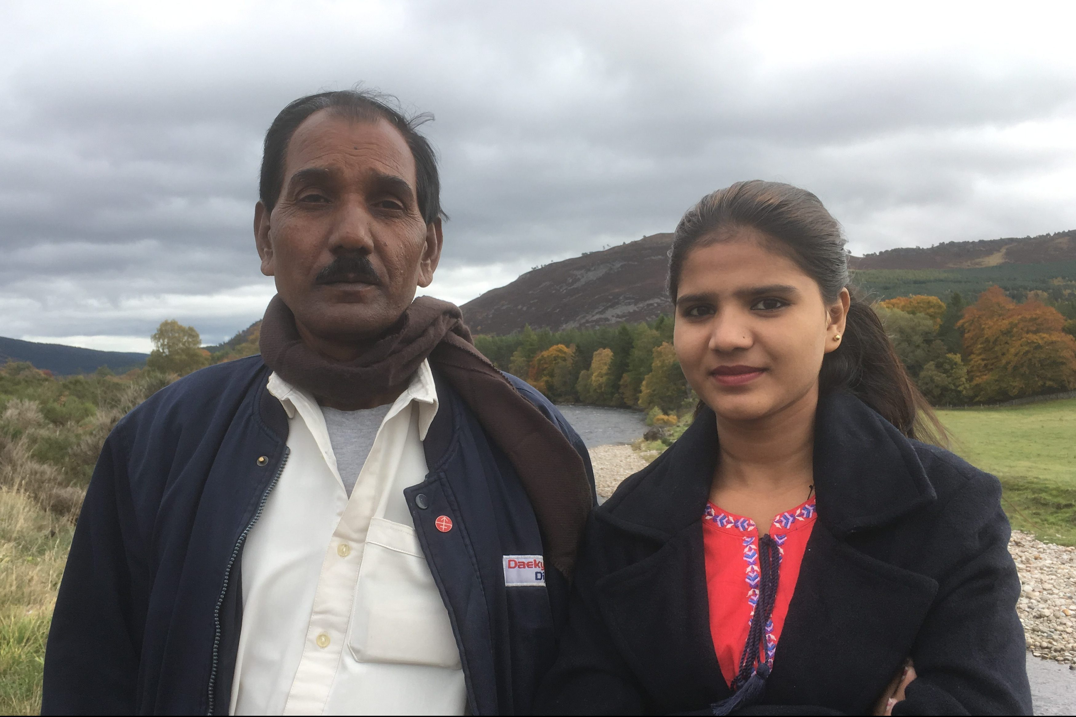 Asia Bibi's husband and daughter, Ashiq Masih and Eisham Ashiq, during their October 2018 visit to the UK as guests of Aid to the Church in Need (© ACN).