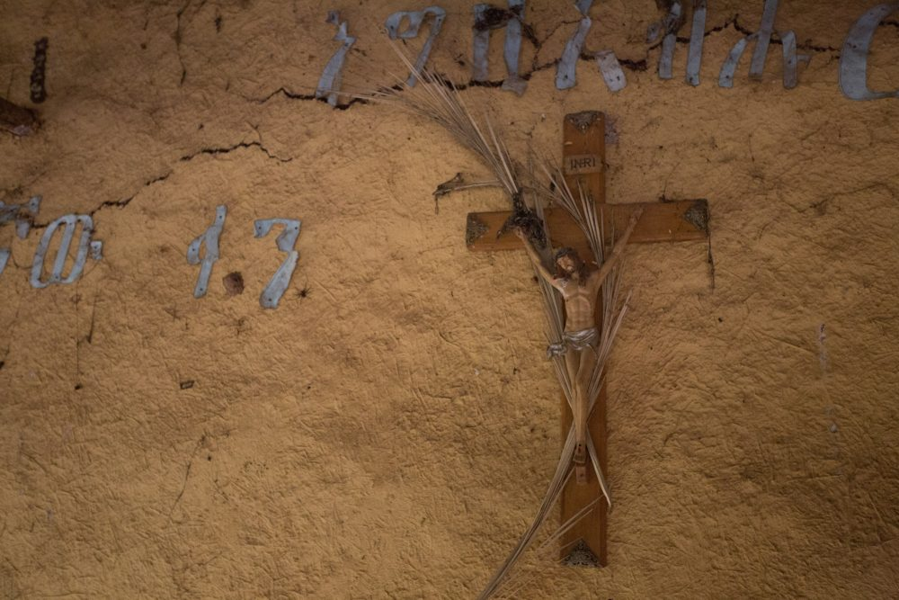 A cross in a poor rural church, Ethiopia.