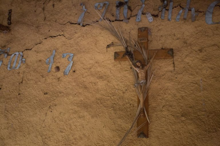 A cross in a poor rural church, Ethiopia.