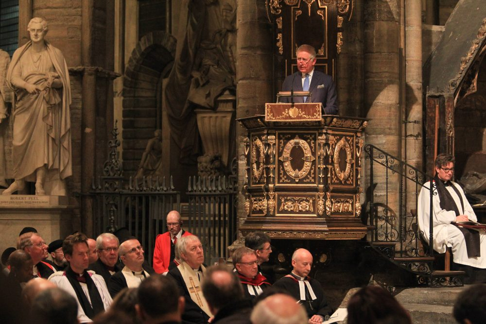 His Royal Highness The Prince of Wales, Prince Charles gives his Testimony ©Andrew Dunsmore/Westminster Abbey