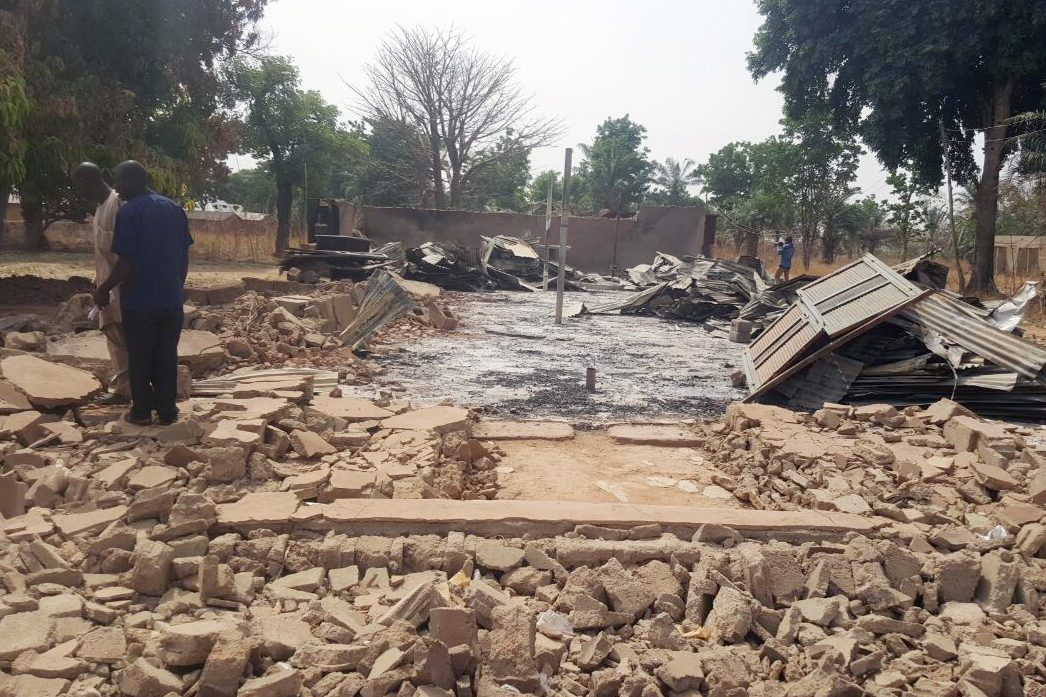 Kaduna: Destruction caused by a Fulani attack in 2017