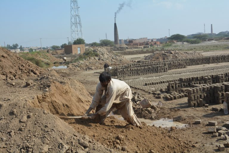 Brick-kiln workers near Faisalabad are trapped in back-breaking servitude because of a lack of education.