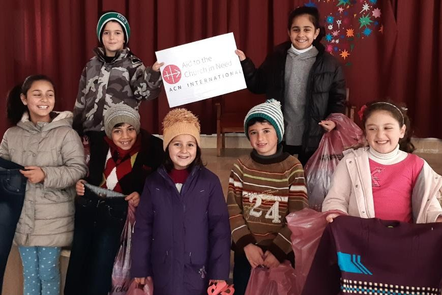 Syria 2018 Distribution of Christmas Gifts in Hauran SYRIA / NATIONAL 18/00432 ACN Christmas Gift for the children in Syria (Al-Hasakeh, Qamishly, Homs, Homs villages, Swaida, Aleppo, Damascus, Maloulla, Maaroune, Khabab & Horan) - 2018